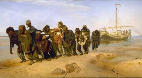Wolgatreidler, Gemälde (1870–1873) von Ilja Repin