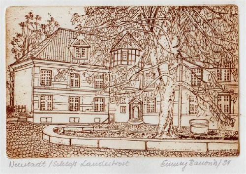 Stich von Emmy Banovits - Ausgegeben anlässlich Neustadt- Treffen 1991 durch Briefmarkenfreunde