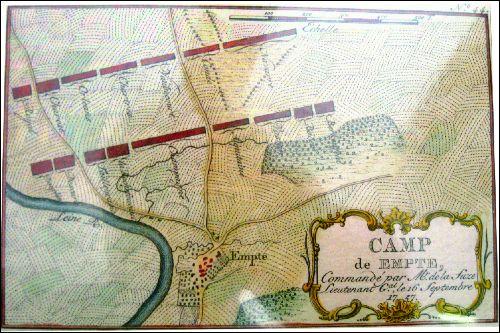 """Historischer Plan des """"Camp der Empte"""" 1757"""