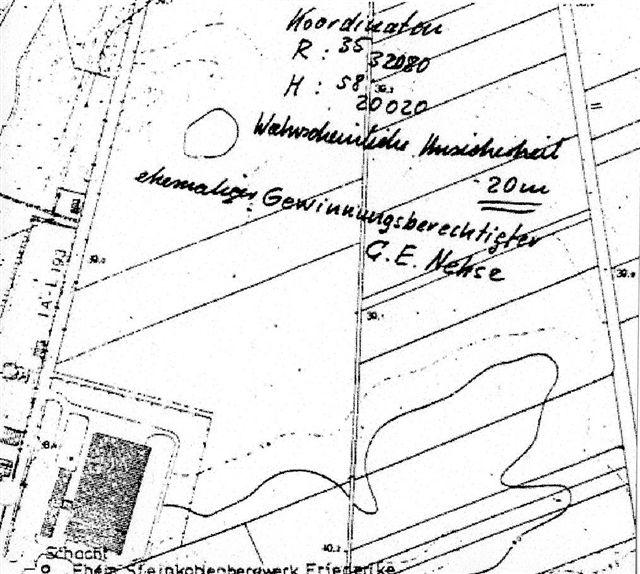 Die Kohleflöze - Lageplan der Kohleförderung in Neustadt am Rübenberge