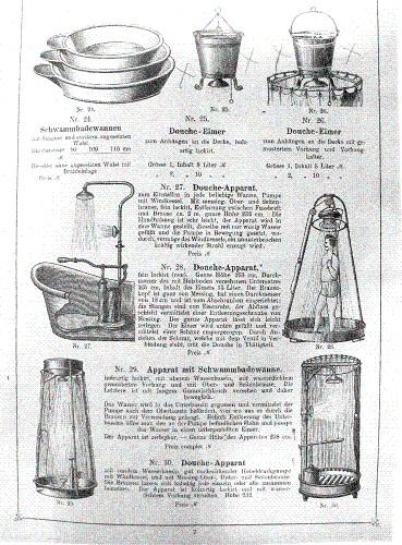 Dusch-Apperate, Douchen, Eimerdusche