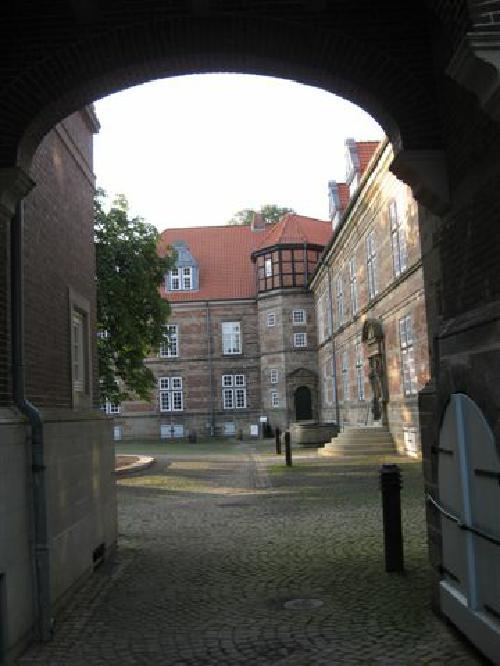 Blick auf den nördlichen Treppenturm