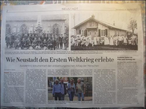 Die Leinezeitung berichtet: Ein neues Buch über Neustadt am Rübenberge im ersten Weltkrieg ist erschienen.