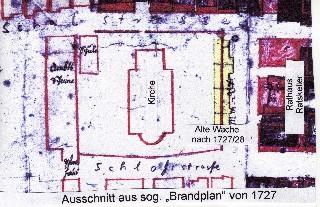 Brandplan von 1727, Neustadt am Rübenberge