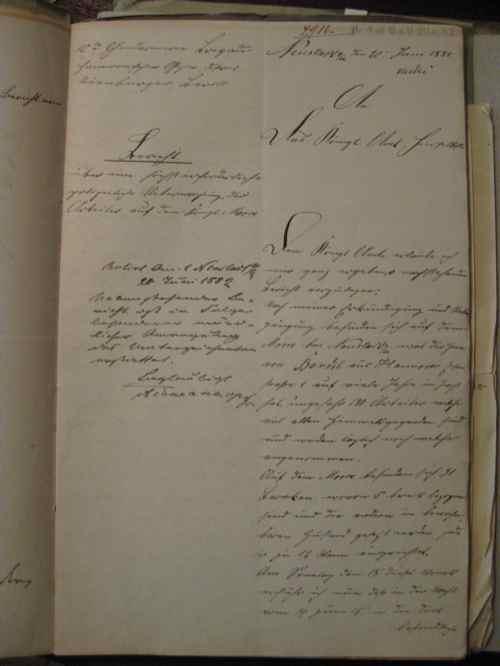 Der Gendarm Strauch hat eine Bericht zur Wohnsitution in Grossmoor verfasst