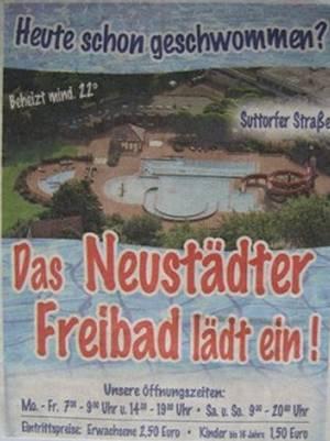 Eröffnung des Neustädter Freibades