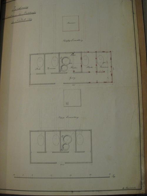 Grundriss des ersten Badehauses in Neustadt