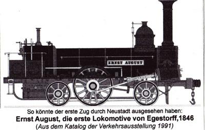Die erste Lokomotive in Neustadt