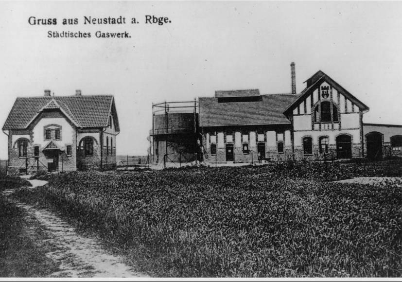 Eines der ersten Gaswerke in Niedersachsen stand in Neustadt am Ruebenberge