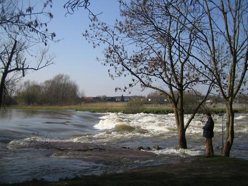 Wasserfall in der Apfelalle bei Hochwasser