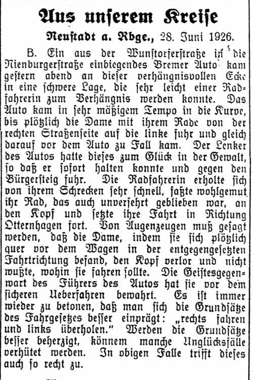 Leinezeitung von 1926