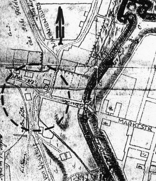 Stadtplan von Neustadt am Rübenberge von Fescas, 1757