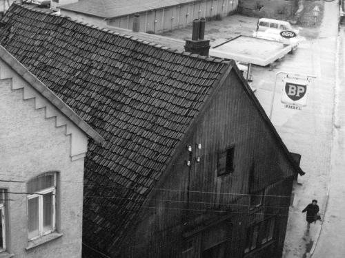 Das Haus von Dörge vor dem Abbruch