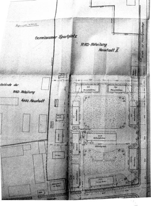 Lageplan des nördlichen Teils von 1939