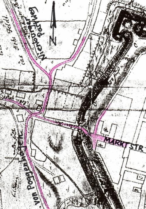Historische Stadtplan von Neustadt am Rübenberge von Fescas -1757