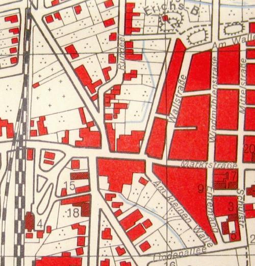 Stadtplan von Neustadt am Rübenberge von 1951