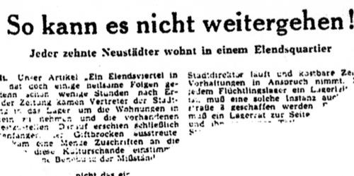 Aus der Leinezeitung vom 31. Januar 1950