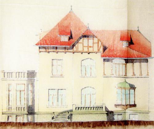 Die Kollmeyersche Villa nach einem Arbeitsentwurf um 1904