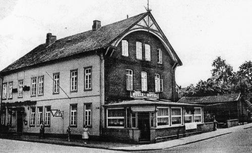 Alte Postkarte: Nuelles Eck, Marktstraße