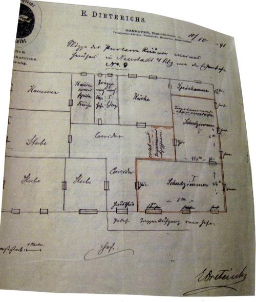 In diesen Räumen wurde die Winterschule 1892 mehr schlecht als recht begonnen