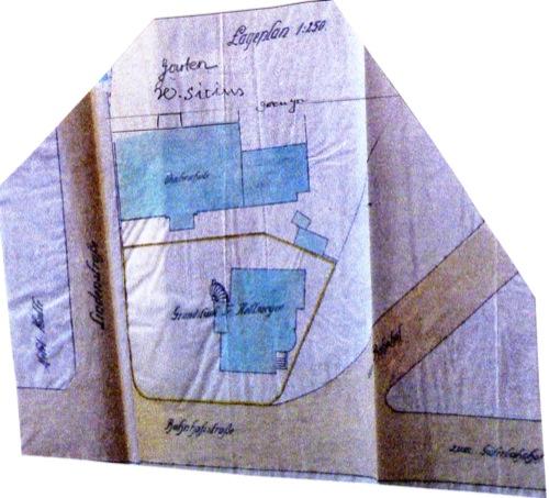 Situationsplan / Lageplan der Landwirtschaftsschule von  1919