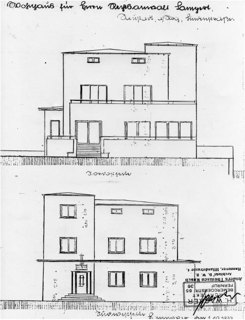"""Ansicht des Bauhaus Gebäudes """"Villa Lampert"""""""