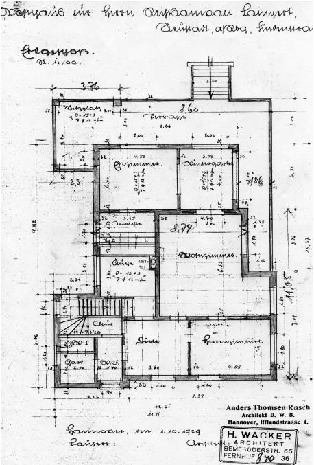 Bauhaus Architektur: Grundriss des Erdgeschosses