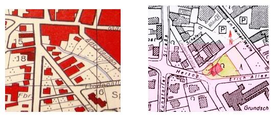 Neustadt am Rübenberge: Lageplan des Gropius-Hauses von 1951 und  (ca.) 2000