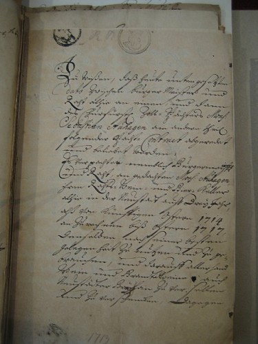 Erste Seite eines Pachtvertrages mit Sebastian Auhagen [11]