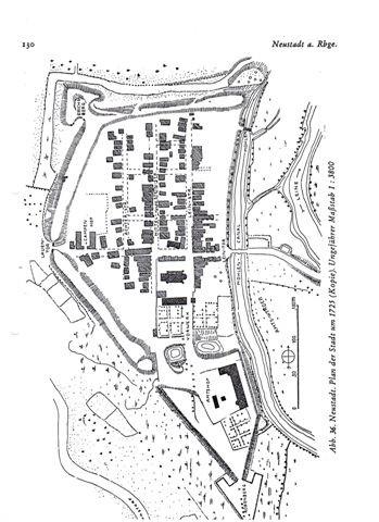 Historischer Lageplan des Erichsbergs - Die Bastion in Neustadt