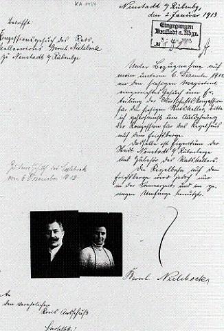 Gesuch des Ehepaars Nielebock zum Ratskeller im Rathaus Neustadt