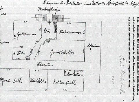 Historischer Grundriss des Ratskellers in Neustadt am Rübenberge