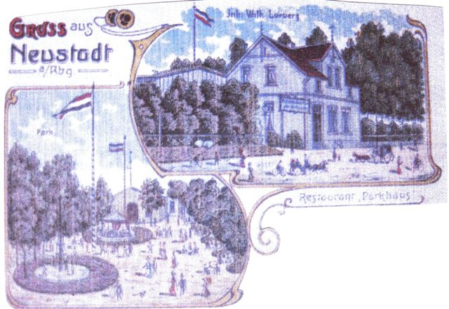 Postkarte des Parkhauses etwa 1903