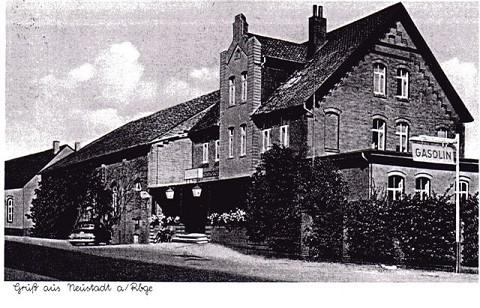 Postkarte des Gasthofs Müller in Neustadt am Rübenberge