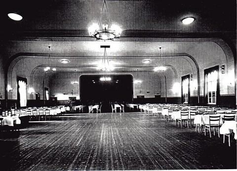 Der neue Festsaal von Gastwirt Lüders in Neustadt