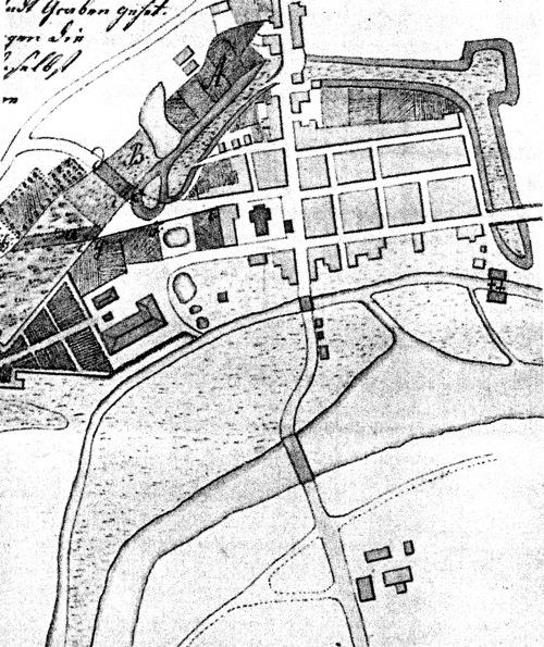 Plan der Stadt Neustadt am Rübenberge im Jahre 1769