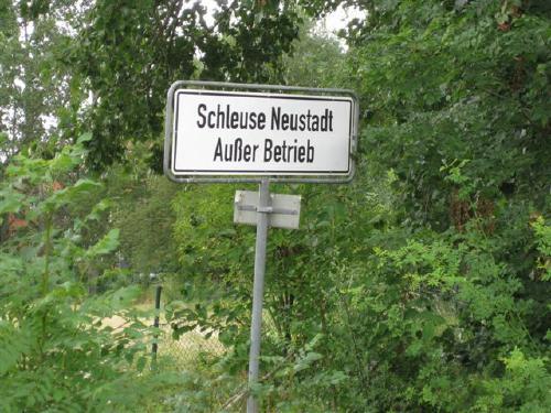 Schleuse ausser Betrieb - Foto Dyck 7/2011