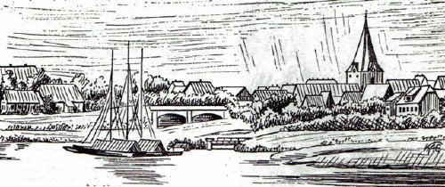 Das Haus des Schleusenwärters am Mühlenkanal (Nach einer Zeichnung im Staatsarchiv zu Hannover)