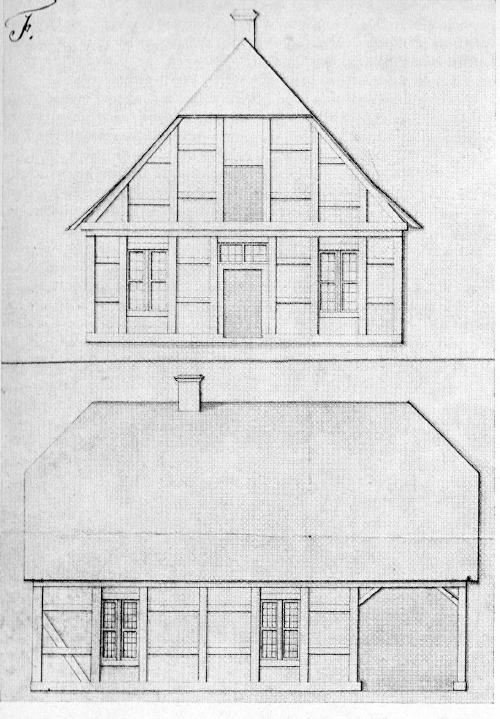 Zeichnung des Hauses des Schleusenwärters zu Neustadt