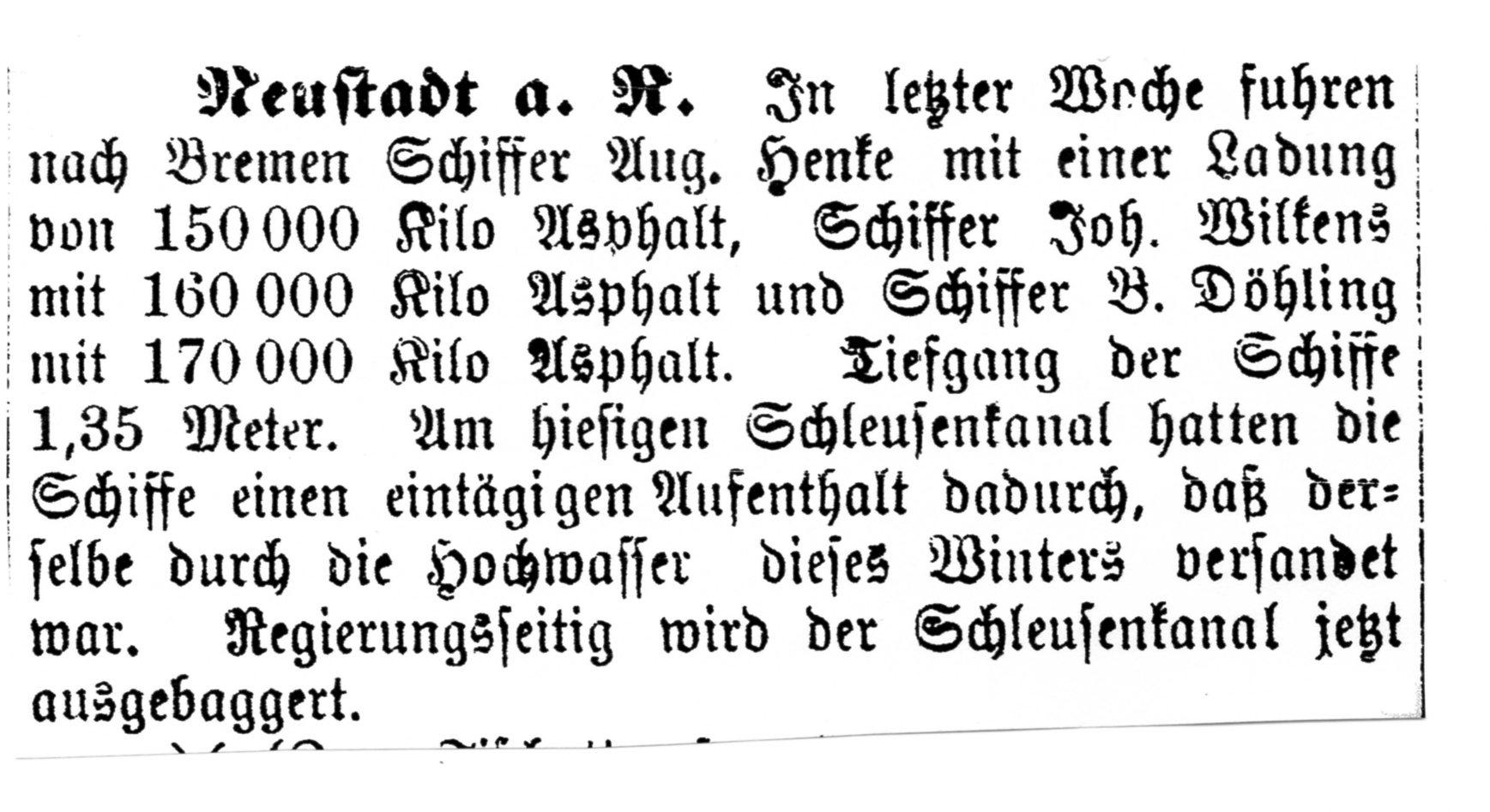 Leinezeitung von 1883