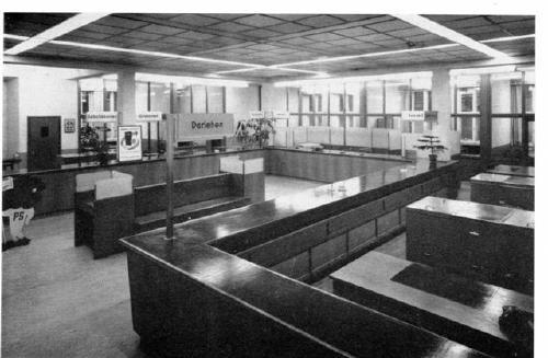 Innenansicht der 1953 ausgebauten Hauptstelle