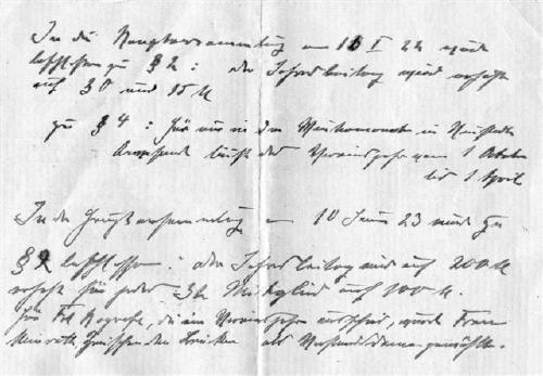 Protokoll über Satzungsänderungen 1921 und 1923