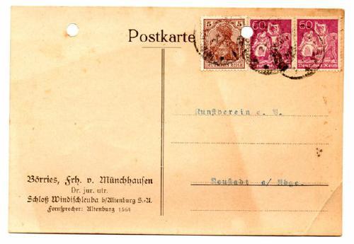 Postkarte von Börries, Freiher von Münchhausen