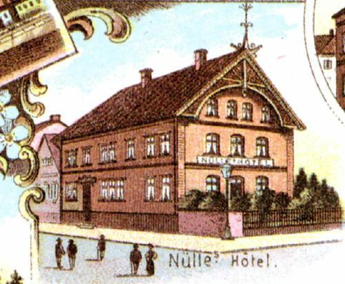 Hotel Nülle in Neustadt am Rübenberge - Ausschnittsvergrösserung aus einer Postkarte
