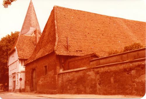 Rückseite der Zehntscheune 1978