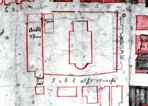 """Aus dem """"Brandplan"""" von 1727"""