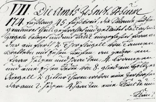 """Auszug aus einer Innventarliste von 1747 - HstAHan , Han74 NRÜ 685 Inventar - Kopie im RAH """"Archivalien Schloß NRÜ VI (K106)"""