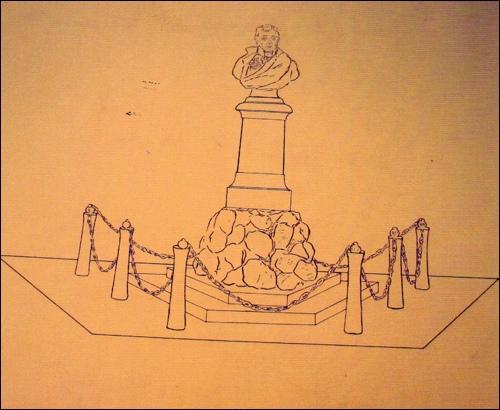 Ursprünglicher Entwurf des Scharnhorst Denkmals -Reg Arch Han Dep NRÜ K Nr 11