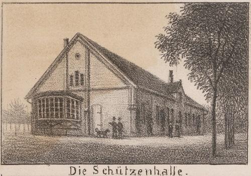 Die Schützenhalle in Neustadt am Rübenberge um 1900