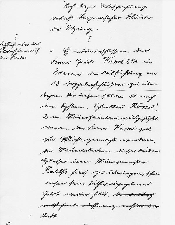 Ratsbeschluss der Stadt Neustadt am Rübenberge vom 21. Juni 1920 (Reg. Arch. NRÜ II 767 i)